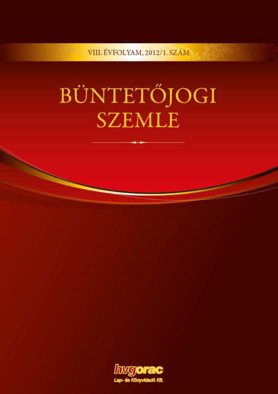 Büntetőjogi Szemle 2012/1.