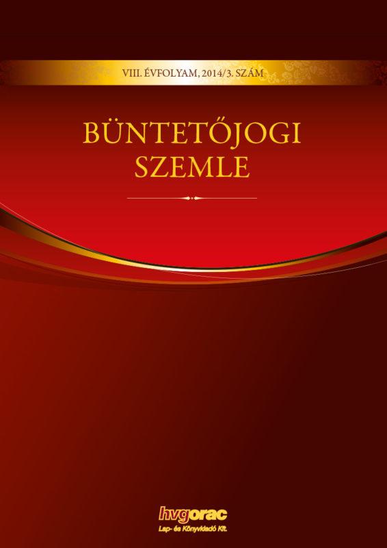 Büntetőjogi Szemle 2014/3.