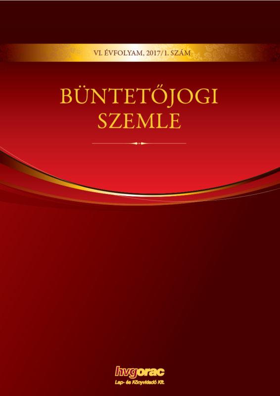 Büntetőjogi Szemle 2017/1.