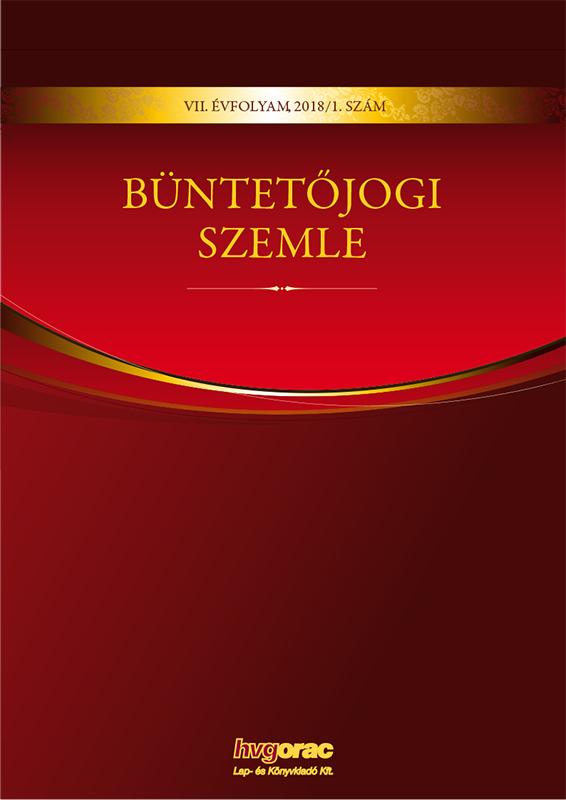 Büntetőjogi Szemle 2018/1.