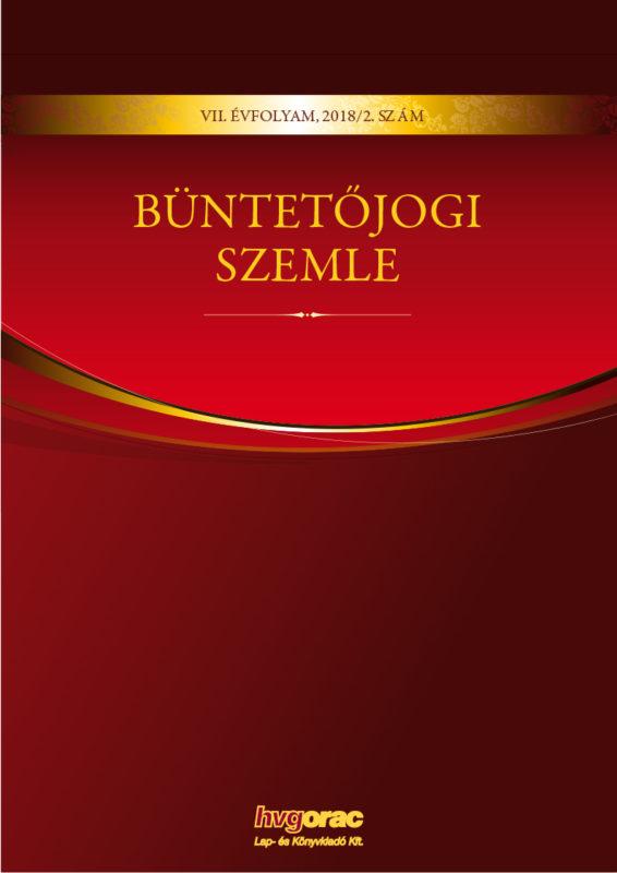 Büntetőjogi Szemle 2018/2.