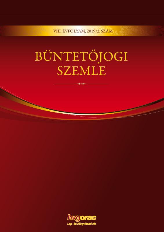 Büntetőjogi Szemle 2019/2.