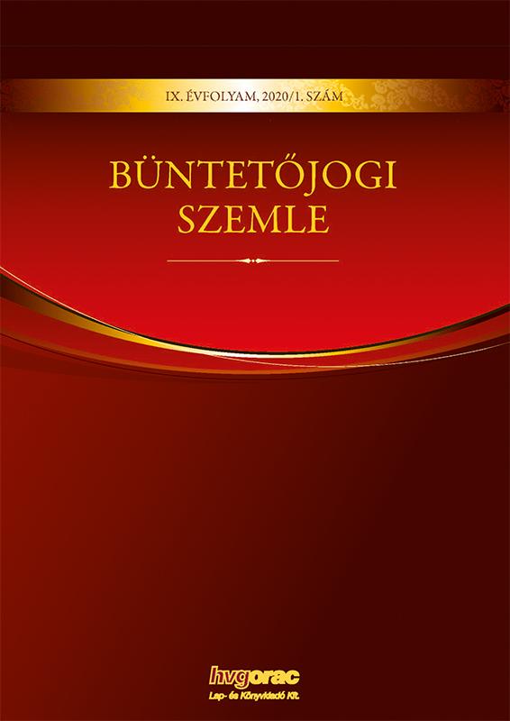 Büntetőjogi Szemle 2020/1.