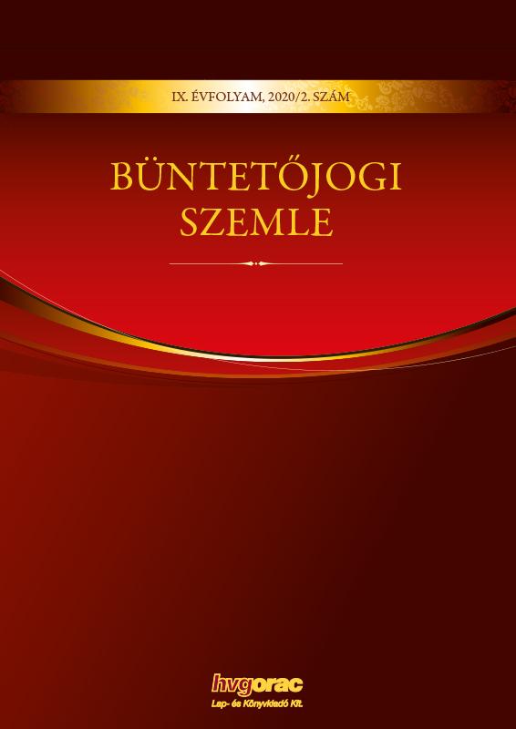 Büntetőjogi Szemle 2020/2.